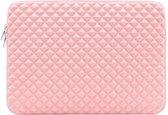 15.6 inch Laptophoes Studs Voering – Roze – Laptoptas Sleeve met Rits Sluiting