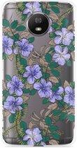 Motorola Moto G5S Hoesje Purple Flowers