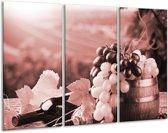 Glas schilderij Druiven, Keuken | Bruin, Rood | 120x80cm 3Luik | Foto print op Glas |  F006820