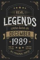 Real Legends were born in December 1989