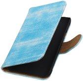 Samsung Galaxy J1 Ace - Mini Slang Turquoise Booktype Wallet Hoesje