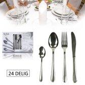 Bestekset Stylish Cutlery (24-delig) - Camping Bestek