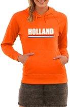 Oranje Holland supporter hoodie dames M (38)