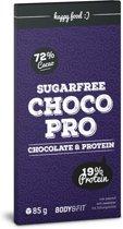 Body & Fit Food ChocoPro - Suikervrije chocolade  - 1 doos (12 repen) - Puur