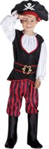 4 stuks: Piraat Tom Tienerkostuum - 10-12 jaar