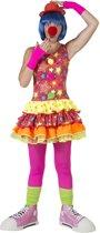 Clown & Nar Kostuum | Grappige Clown Canadia | Vrouw | Maat 40-42 | Carnaval kostuum | Verkleedkleding