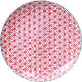Tokyo Design Studio - star wave bord rood/blauw 25.7x3cm