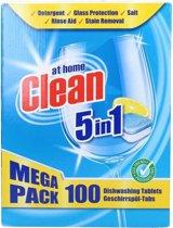 At Home Clean Vaatwastabletten - 5 in 1 100 tabletten