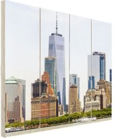 Freedom tower Manhattan Hout 80x120 cm - Foto print op Hout (Wanddecoratie)