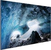 Gletsjergrot Aluminium 90x60 cm - Foto print op Aluminium (metaal wanddecoratie)