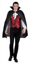 Halloween Vampire Cape Luxe Zwart (120 cm) - Carnavalskleding