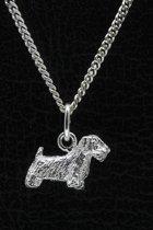 Zilveren Saelyham terrier ketting hanger - klein