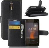 Book Case Hoesje Nokia 1 - Zwart