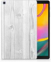 Hoesje Samsung Tab A 10.1 (2019) Design White Wood
