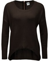 Vero moda oversized trui black coffee - Maat M