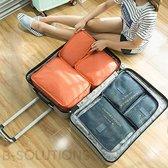 Packing Cubes Set - Bagage Organizer - Koffer of Tas Organizer - Travel Organizer - Set van 6 stuks - Inpak Zakken - Grijs - 6 delige Koffer Organizer