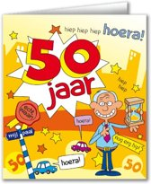 Paperdreams - Wenskaart - Cartoon - 50 Jaar - Man