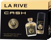 La Rive - Set Cash Men - Geschenkset - Eau de toilette 100 ml + Deodorant 150 ml