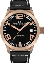 Marc Coblen  MC50R1- Horloge - 50 mm - Zwarte wijzerplaat - Zwarte horlogeband