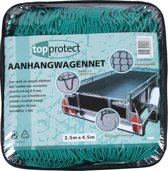 Topprotect Aanhangwagennet - met hoeklussen en elastisch koord - 2,5x4,5m