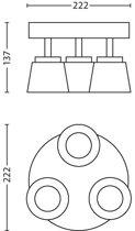 Dender plate/spiral nickel 3x4W 230V