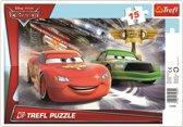 Framepuzzel  -  Disney Cars 2, 15 stukjes Puzzel