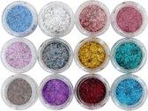 Veronica NAIL-PRODUCTS 12x FLITTER glitter voor nagels, goedkoopste nail art en nagelproducten. Voor glitter acryl, glitter gel, glitter gelnagellak, glitter nagellak online bestellen!