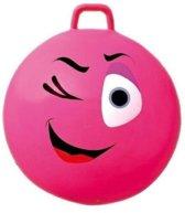 Skippybal smiley voor kinderen 70 cm  Roze
