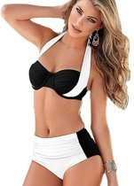 High waist bikini set zwemkleding fashion Wit