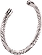 Melano twisted Taylor armband - Zilverkleurig - Dames - Maat Medium