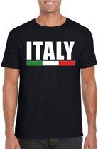 Zwart Italy/ Italie supporter shirt heren XL
