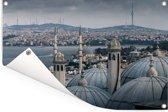 Uitzicht over Istanbul in Turkije Tuinposter 60x40 cm - klein - Tuindoek / Buitencanvas / Schilderijen voor buiten (tuin decoratie)