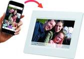 """Denver PFF-710White, 7"""" digitale fotolijst met FRAMEO software Wit"""