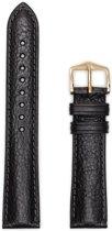 Hirsh Horlogeband -  Camelgrain Zwart - Leer - 8mm