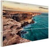 Bunda kliffen Hout 120x80 cm - Foto print op Hout (Wanddecoratie)