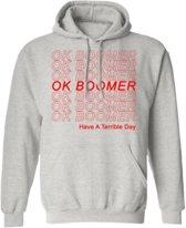 OK Boomer | Hoodie | Generation Z | Ash | Maat Medium