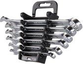 SILVERLINE Steekringsleutel Set - 6-Delige - Metrisch: 8 t/m 17 mm)