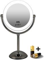 Gérard Brinard verlichte make-up spiegel LED spiegel incl. batterij & USB kabel - 10x vergroting - Ø22cm spiegels