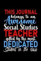 This Journal belongs to an Awesome Social Studies Teacher