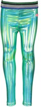 Kidz-art Meisjes leggings & maillots Kidz-art Girls fancy coated legging + stripe groen 98