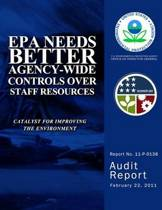 EPA Needs Better Agency-Wide Controls Over Staff Resources