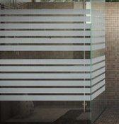 Privacy folie   inkijkwerend   melkglasuitzicht   striping   75x300 cm