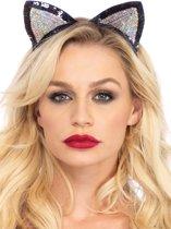Leg Avenue A2793 Haarband met pailletten kattenoortjes