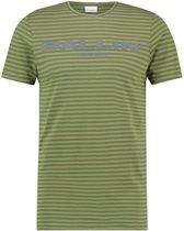Ballin Amsterdam Striped Logo T-shirt Army Grey