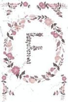 F Monogram Journal: Personalized Initial F, Motivational Heading Prompt - Lined Floral Notebook - Journal - Diary for Reflection