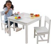 Aspen tafel met twee stoelen wit