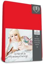 Bed-fashion jersey hoeslaken Rood - 90 x 200 cm - Rood