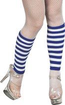 Beenwarmers blauw/wit