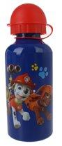 Nickelodeon Paw Patrol Bidon Aluminium Blauw 400 Ml