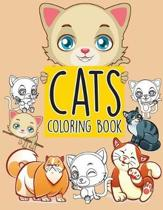 Cats Pattern Doodles; Easy Coloring Book for Kids Toddler, Imagination Learning in School and Home